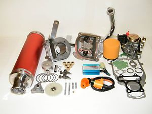 100cc Big Bore Kit Performance Power Pack Red Exhaust Chinese Scooter Parts