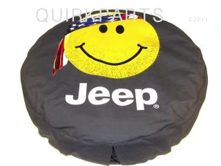 97 12 Jeep Wrangler or Liberty Tire Cover Smiley Face L
