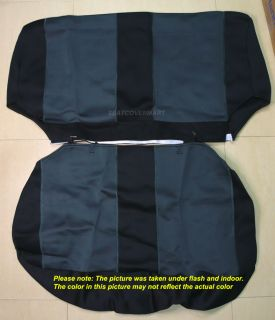 Neoprene Seat Cover Full Set Front Rear Charcoal for TJ 97 02 Jeep Wrangler