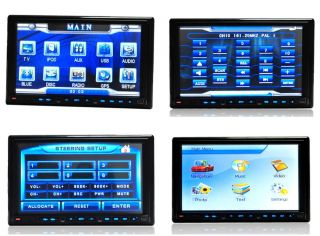 "Ouku G7907 7"" 2Din Car DVD Player GPS Navigation Radio Bluetooth  Map Camera"