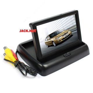 4 3'' TFT LCD Foldable Car Rear View Monitor Vehicle Dashboard Monitor