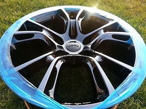 "20"" Jeep Grand Cherokee SRT8 Black Chrome Wheels w Pirelli Tires SRT 9113"