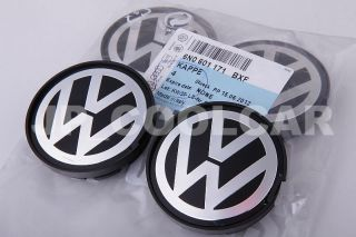 X4 Genuine Volkswagen Wheel Centre Caps Golf Beetle Jetta Polo Lupo Italy VW