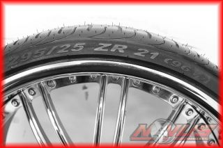 "21"" Forged Chrome Wheels Pirelli Tires Staggered Ford Lexus 5x114 3 20 19 22"