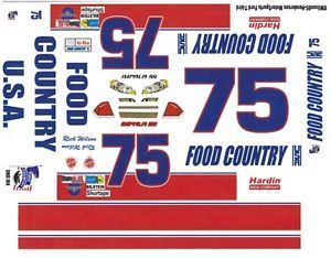 75 Rick Wilson Food Country Ford 1 64th HO Scale Slot Car Decals