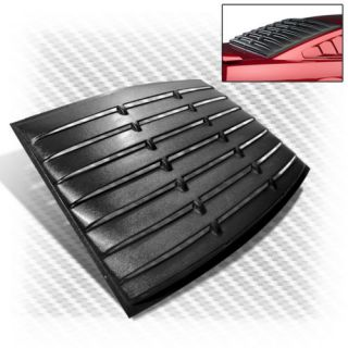 05 13 Ford Mustang ABS Vintage Black Rear Window Louver Sun Shade Cover Upgrade