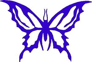 "Butterfly Vinyl Car Decals Sticker Graphics 6"" x 4"" Sapphire Blue Design 04"