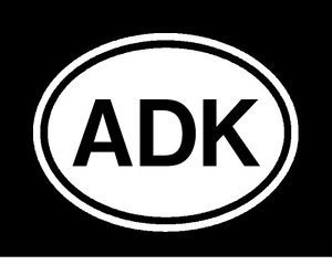 Adk Adirondack Vinyl Car Decals Sticker Euro Oval