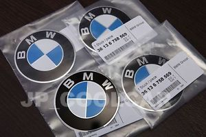 X4 Real BMW 3 Series Wheel Center Cap Adhesive 70mm Emblems E30 E36 Z3 Germany