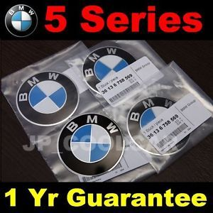 X4 New BMW E39 E60 E61 Wheel Center Cap 70mm Emblems Germany 36 13 6 758 569