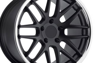 "19"" Roderick RW6 Black Concave Staggered Wheels Rims Fits Porsche Cayman R S"