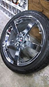 Factory Corvette Wheels and Tires Rims 2010 C6 Chrome Tires Takeoffs