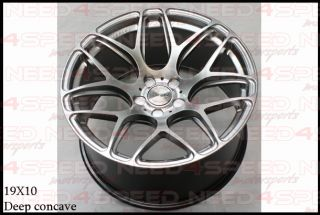 "19"" Ground Force GF9 GF09 Silver for Nissan Maxima Staggered Concave Wheels Rims"