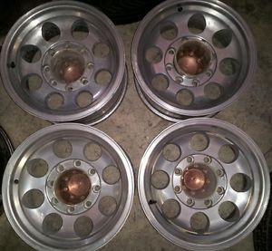 4 16 inch Dodge Chevy Ford 8 Lug Wheels Rims 8x6 5 8x165 1 16x8 Aluminum 2500 HD