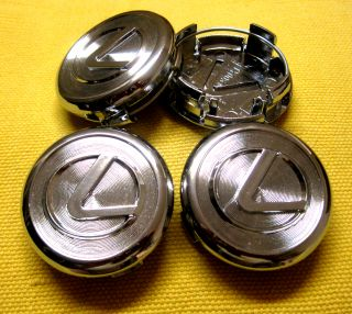 4 Pcs Lexus Chrome Wheel Center Caps 62 mm IS300 ES330 GS300 GS430 LS430 RX350
