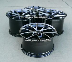 Black Chrome Spyder Spider Corvette Wheels Z06 Grand Sport""