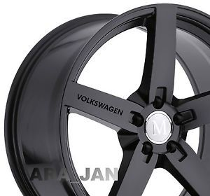 4    VOLKSWAGEN Wheels Decal sticker emblem logo window door sport racing BLACK