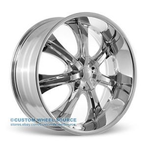 "24"" IROC VW725 Chrome Rims for Chrysler Chevrolet Dodge Ford Wheels"