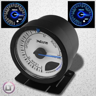 New White Blue LED Display Analog Racing Auto Meter 60mm Air Fuel Ratio Gauge