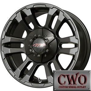 16 Black MB TKO Wheels Rims 8x165 1 8 Lug Chevy GMC Dodge RAM 2500