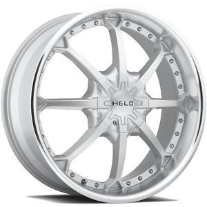 20 inch Helo Silver Wheels Rims 5x5 5x127 Jeep Grand Cherokee Commander