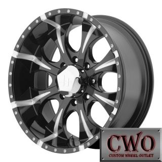20 20x10 Black Helo Maxx Wheels Rims 8x170 12mm Offest
