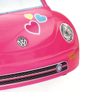 Power Wheels Barbie VW Bug Pink Volkswagen Beetle Electric Ride on Car W6209