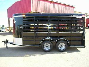 "New 2014 6'x16'x6'6"" Co Hann Horse Cattle Calf Live Stock Utility Trailer"
