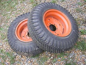 Case Ingersoll Garden Tractor Lawn Mower 446 Goodyear Rear Turf Tires Rim 8 16