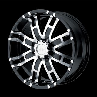 17 inch Helo Black Rims 5 Lug Wheels Dodge Ford F150 Truck RAM CJ 5x5 5 HE835