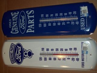 2 Genuine Ford Parts Thermometer Metal Sign Features A Powdercoat Finish THX2
