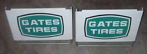 Vintage Old Gates Tires Oil Gas Station Tractor Semi Truck Tire Display Sign