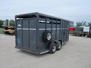 "8158 Used 1999 Moritz Gooseneck Horse Trailer 6'8""x16 3 Horse Slant on Sale Save"