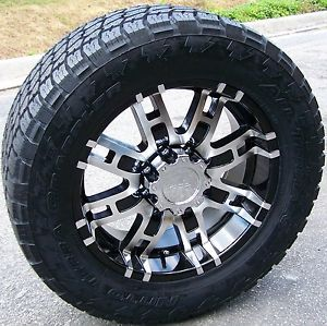 "20"" Helo 835 Wheels Nitto Terra Tires Grappler Chevy Tahoe Escalade Silverado"