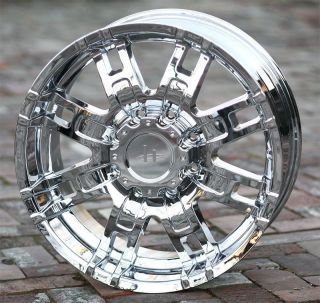 17 inch Chrome Wheels Helo 835 Chevy GMC Dodge 2500 3500 Trucks 8 Lug 8x6 5