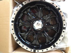 Helo HE791 Maxx HE7916860300 Rims Set of 2 16x8 0mm Offset 6x5 5 Gloss Black