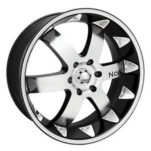 "20"" Noir Vendetta Wheel Tire Package Rims 5 6 Lug Vehicles Chevy"