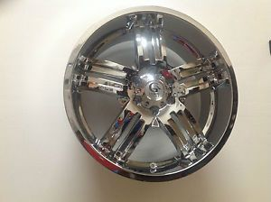 "20"" Granite Alloy GX1 Chrome Trailblazer Envoy Wheel 20x8 5 6x5 GX108386127778C"