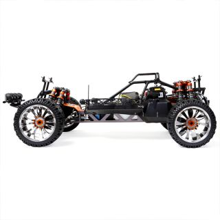 1 5 Scale King Motor T2000 Gas Baja RC 4WD Dual Shock Truck 30 5cc RTR Black