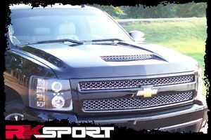 New Rksport Chevy Silverado RAM Air Hood Only Fiberglass Truck Body Kit 29013000