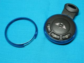 Mini Cooper s R55 R56 R57 R58 R59 R60 Replacement Metal Blue Key Ring Rim Cover