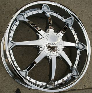 Helo 871 24 x 9 5 Chrome Rims Wheels Ford F 150 F150 97 03 5H 15