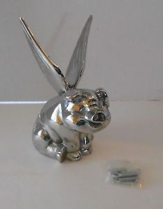 Chrome Winged Flying Pig Hog Hood Ornament Truck Car Motorcycle