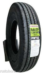 7 50R16 LRG 14 Ply Power King Heavy Duty Trailer Service Tire Free SHIP