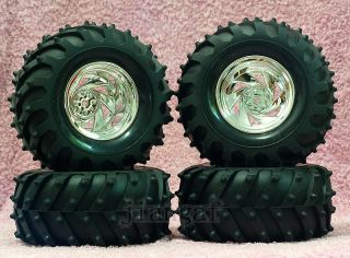 4X RC 1 10 Monster Bigfoot Car Truck Wheel Tyre Tire A2