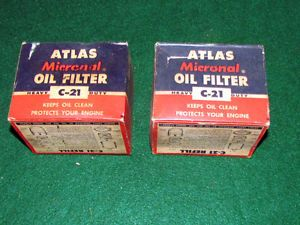 Vintage Car Oil Filter for Chrysler DeSoto Dodge Plymouth Packard 6 Cyl and V8S