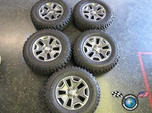 "Five 2013 Jeep Wrangler Rubicon Factory 17"" Wheels Tires Rims Sahara BFG Mud"