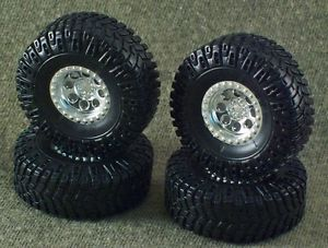 1 25 Scale Model Car Parts Junk Yard 4x4 Off Road Swamper Mud Tires Wheels