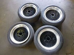 "Porsche 928S4 911 914 944 Enkei 92 Mesh BBs Replica Wheels Rims Tires 15"" Set"