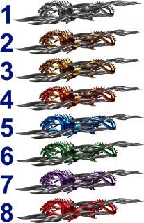 Chrome Dragon Attack Auto Graphics Car Truck Graphic Decals Kit 6ft